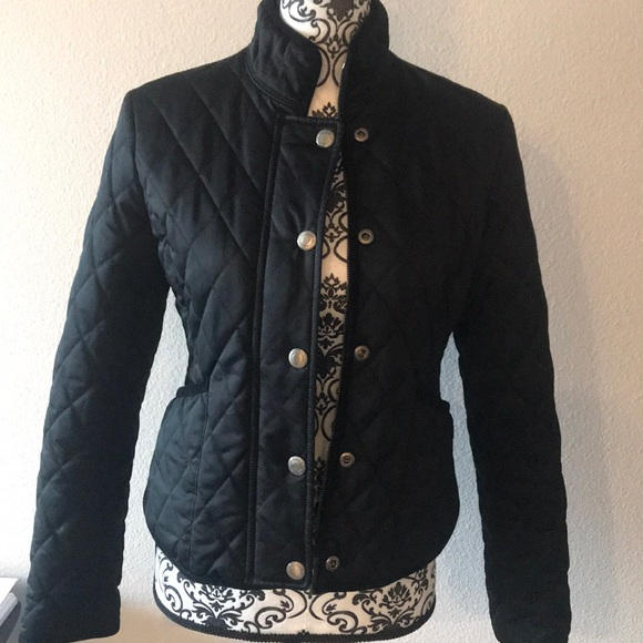 Coach black quilted jacket